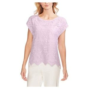 Vince Camuto Womens Floral Lace Top